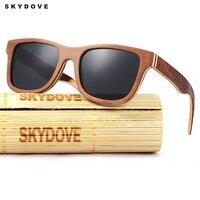 ea6a79fc9 SKYDOVE Wood Sunglasses Polarized Rectangle Bamboo Sunglasses Men Luxury  Brand Mens Sunglasses Brand Designer Sun Glasses