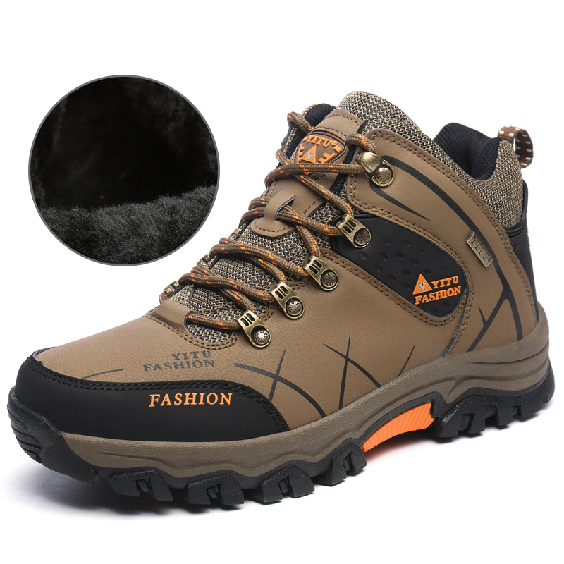 Winter Thickness Warm Thermal Mountain Hiking Shoes Outventure Climbing Military Outdoor Waterproof Mountain Sneakers Men