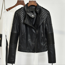 Fashion 2017 Spring and Summer Women Biker Leather Jacket Coats Female Slim Autos Leather Jacket Women's Streetwear Brand C417