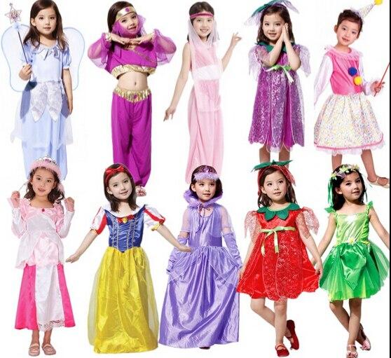 2016 Halloween Cosplay girl Dress arab India Princess costume Children greek goddess clothing Fruits Clothes Angel fairy Costume