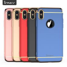 For Iphone X Case Original IPAKY Brand PC Plating 3 in 1 Back Cover 360 Degree Full Protection Apple 10 Fundas