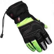 Moto guantes guanti luvas Мужчины Зима Теплая Водонепроницаемый Сенсорный Экран Перчатки Мотоцикла Мотокросс мотогонки Защитные Перчатки
