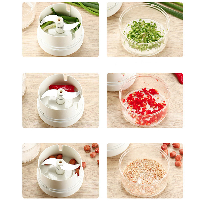 Mini 170ML Powerful Meat Grinder Hand power Food Chopper Mincer Mixer Blender to Chop Meat Fruit Mini 170ML Powerful Meat Grinder Hand-power Food Chopper Mincer Mixer Blender to Chop Meat Fruit Vegetable Nuts Shredders