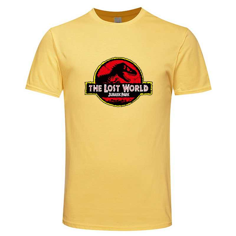 c1b3e5b5 ... New JURASSIC PARK print cotton T shirt for men Tops Casual Brand Graphic  Tees Hipster Shirt ...