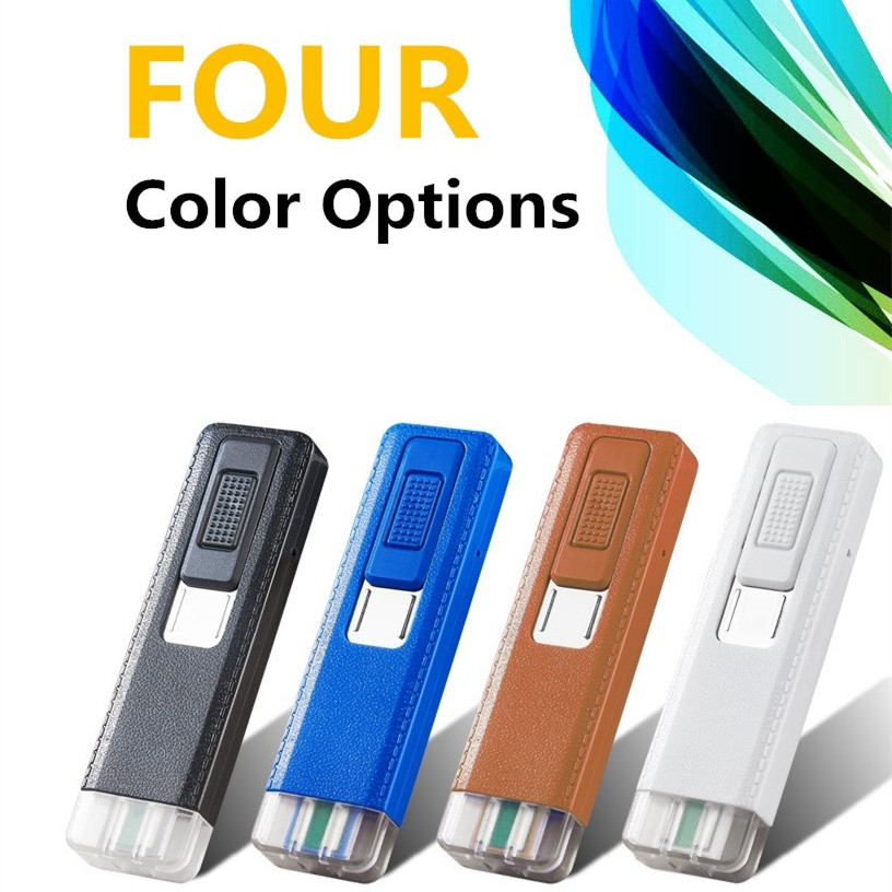 Small Plastic Turbocharger: Mini Tungsten Turbo Electronic Lighter USB Rechargeable