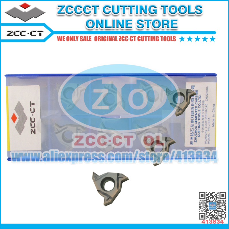 10pcs lot RT16 01W G60P YBG205 PVD Coating ZCC CT Cemented Carbide CNC external Threading inserts