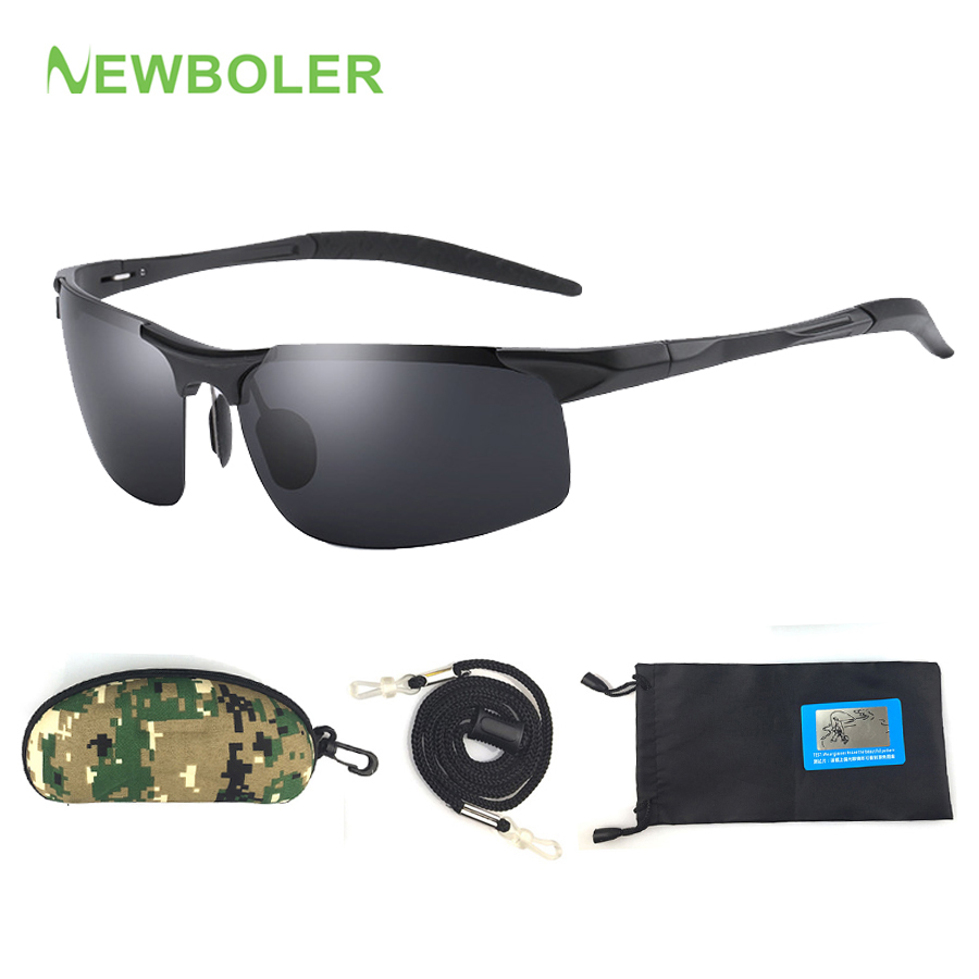 Polarized Sunglasses Fishing Eyewear Metal Frame For Men Sport Sun Glasses Fishing Driving Traveling Cycling Gafas De Pesca