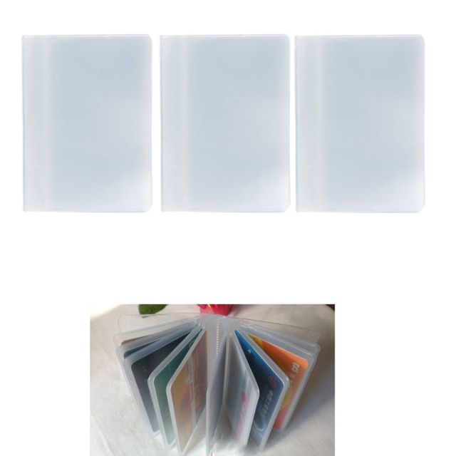 Fashion plastic pvc clear pouch id credit card holder organizer fashion plastic pvc clear pouch id credit card holder organizer keeper pocket name business card bags colourmoves