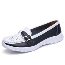 2019 Spring women flats mary jane leather shoes slip on ballet flats ballerines flats woman flat loafers walking shoes(China)