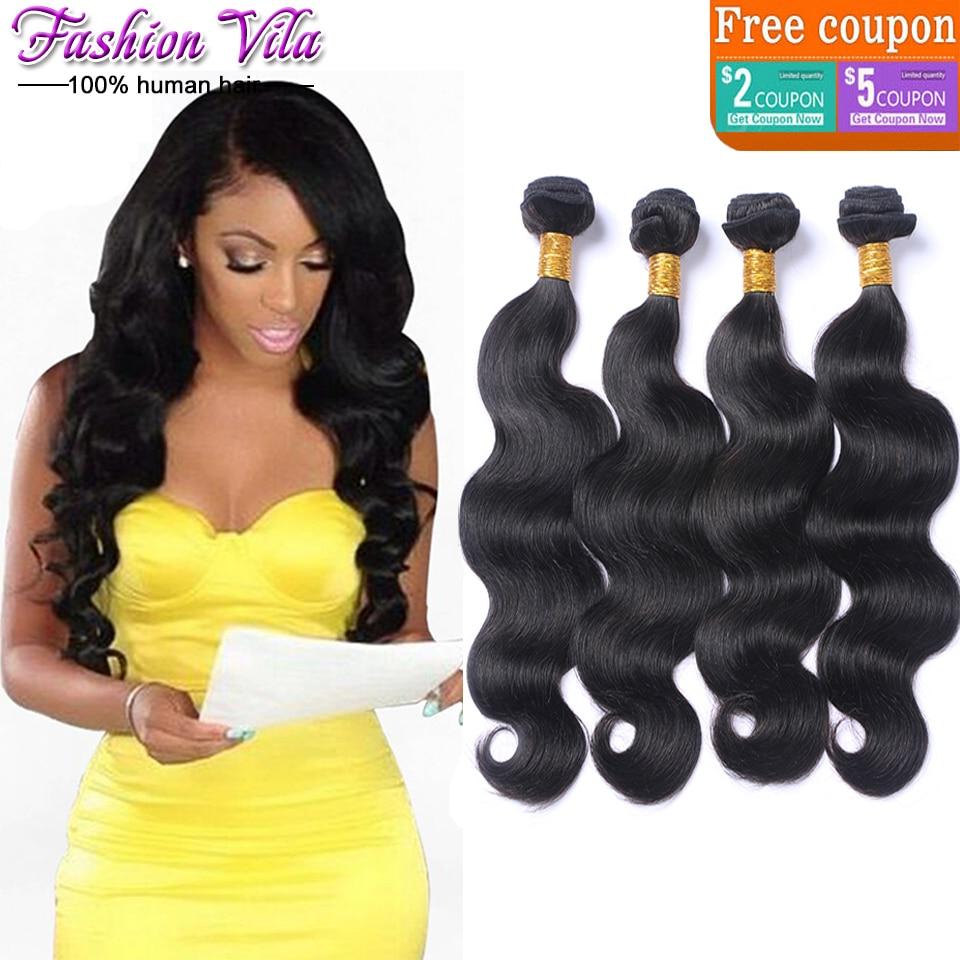 7a Unprocessed Peruvian Virgin Hair Body Wave 4 Bundles Cheap Human