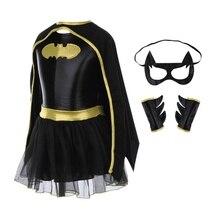 ילדי בנות באטמן Batgirl תחפושת גיבור תלבושות תלבושות קומיקס קוספליי