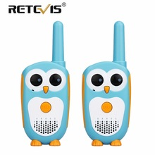 Retevis RT30 Cute Cartoon Owl Walkie Talkie para niños Mini portátil niños Radio 0.5W 1CH FRS / PMR PMR446 Radio bidireccional de juguete regalo