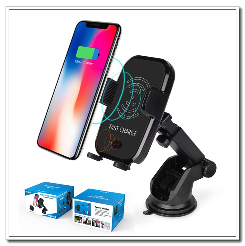 AZIROX Rapide Sans Fil Chargeur De Voiture Automatique Infrarouge Capteur De Voiture De Support D'évent de Téléphone Berceau de Support pour iPhone 8/8 Plus/ X Samsung