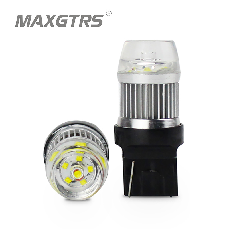 2x New arrival W21W LED Reverse Lights 800LM 30W CREE Chip XBD T20 font b Lamp