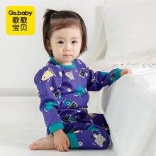 Купить с кэшбэком Baby Girl Clothes Set Boy Pajamas Sets Newborn Baby Boy Clothing Set Baby Sleepwear Girls Kids Cotton Pajamas Children's Pajamas