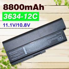 12 เซลล์ 8800 MAH แบตเตอรี่แล็ปท็อป PA3634 สำหรับ Toshiba Satellite Pro 3000 C650 C660 L510 L600 L630 L640 L650 L670 m300 T130 U400