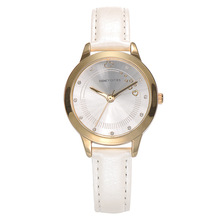 Disney brand white leather quartz watch for woman luxury diamond Mickey mouse pink red brown white band waterproof ladies clocks