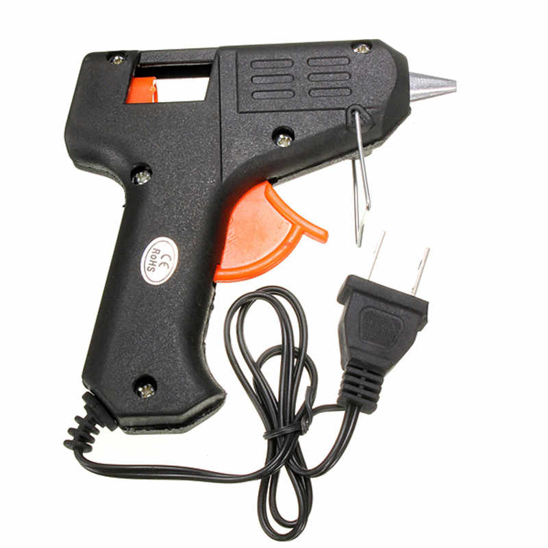 20W 110v-240v 7mm Glue Sticks Electric Heating Hot Melt Glue Gun Sticks Trigger Art Craft Repair Tool US Plug Electric Tool