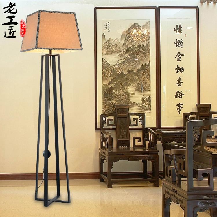 De nieuwe Chinese moderne minimalistische retro antieke vloerlamp ...