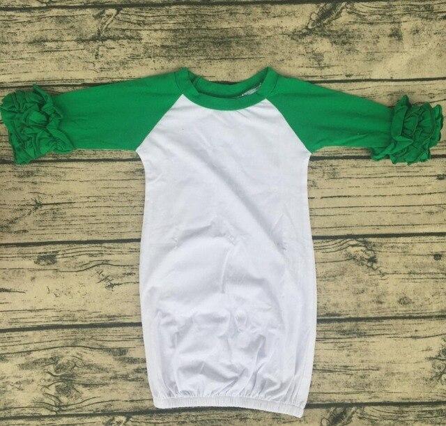 Blouse cute Baby Sleep Gown 2017 children toddler long ruffle sleeve ...