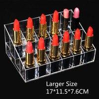 24 Transparent Lipstick Storage Box Acrylic Lipstick Holder Case Makeup Organizer Cosmetic Display Stand New Free