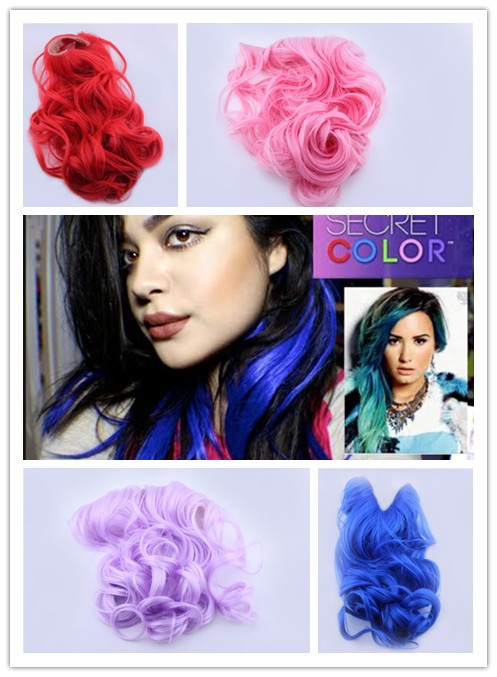 Demi Lovat Launches Secret Color Hair Extensions Headband Free