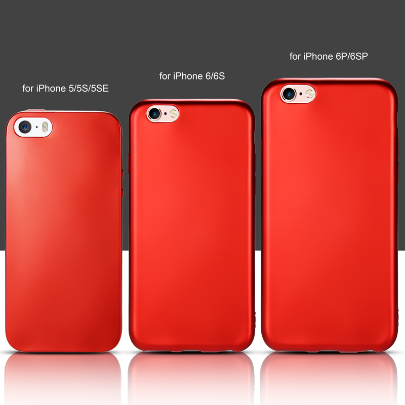red silicon iphone 6 case