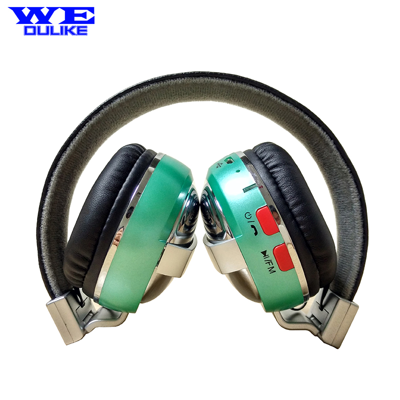 bilder für Wedulike Leder Stirnband Stereo Metall Drahtlose Bluetooth Kopfhörer Headset Kopfhörer Tf-karte Mp3-player