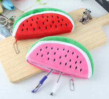 New 2Colors, plush purse 22CM approx. plush pure watermelon Coin plush purse , key chain fruit plush coin bag(China)