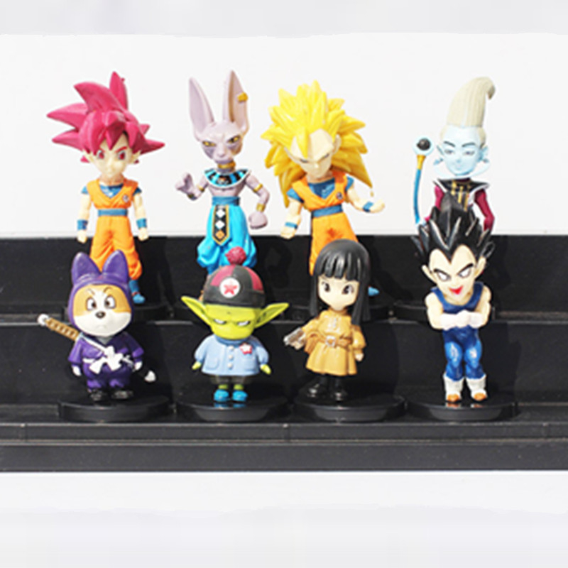 1pc/lot Dragon Ball Z Figures 8 Styles Birusu/Uisu/Vegetto/Shou/Pilaf/Goku/Vegeta Action Figures PVC Dragon Ball Toys 8CM ...