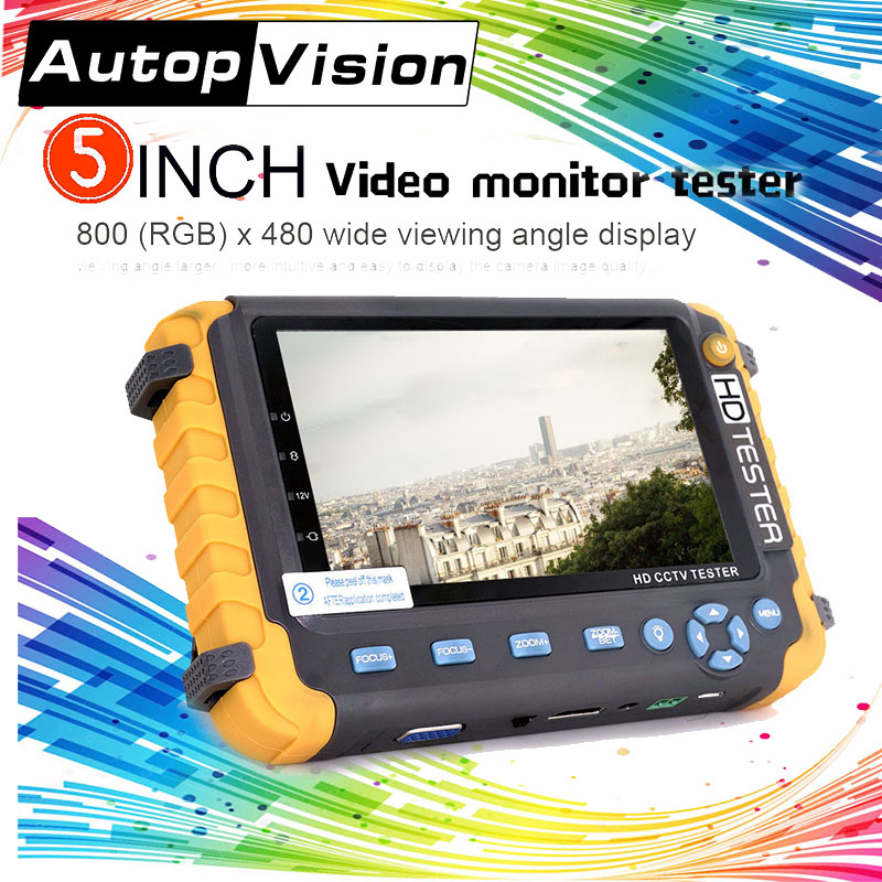 IV8W 5 Inch Display 4-IN-1 Audio Testin 5MP TVI 5MP AHD 4MP CVI CCTV camera Tester PTZ Security Camera Tester RJ45 interface dickens c pictures from italy
