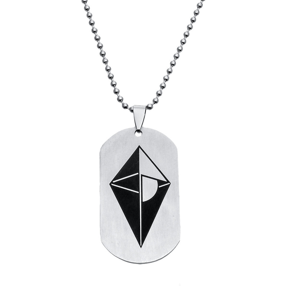 MMORPG Game No Man's Sky LOGO Stainless Steel Round Bead Chain Pendant Necklace Dog Tag Charms Choker Unisex Jewelry Fans Gift image