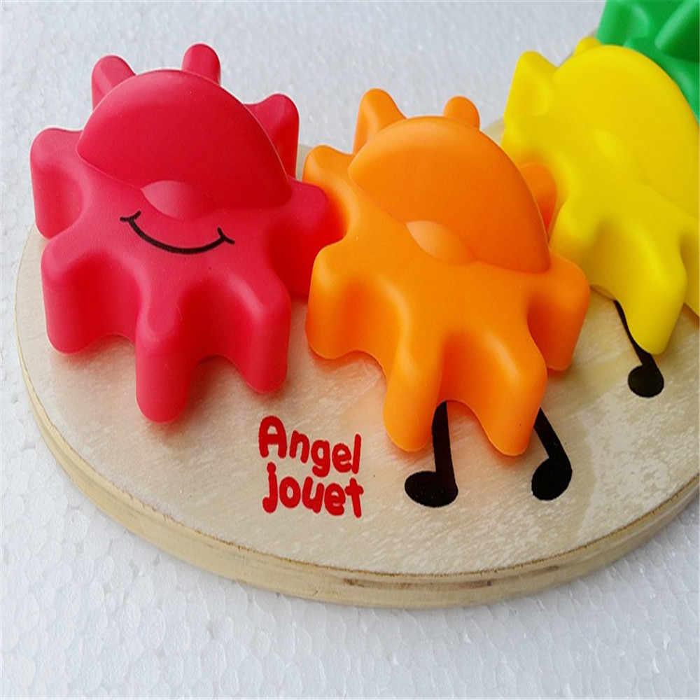 הרכים של ילד מונטסורי צעצוע קוביות עץ להגדיר 6 יחידות מצחיק צבעוני קשת גלגל שנתי יצירתיות מתנה קלאסית תינוקות