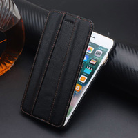 100 Retro Genuine Real Leather Case For Apple IPhone 7 Plus Luxury Vertical Flip Phone Bag
