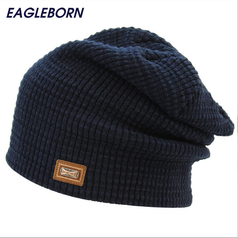 2017 Brand New Male Female skullies beanies Fall Winter Hat For men Wool Cap Knit Brand New High Quality Bone beanie hats Unisex