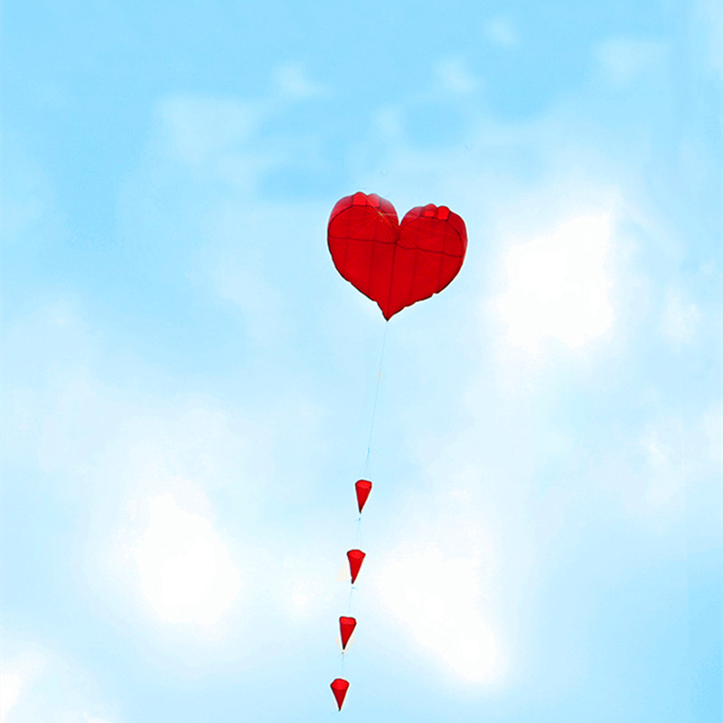 free shipping soft kite love heart kite nylon ripstop outdoor toys big flying kite factory walk in sky kaixuan kite albatross