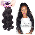 3 Bundles 8A Indian Virgin Hair Body Wave Cheap Hair Weave Bundles Unprocessed Indian Body Wave Wet And Wavy