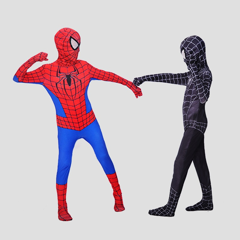 Red Black Spiderman Cos Costume Spider Man Suit Spider-man Costumes Adults Children Kids Spider-Man Cosplay Clothing