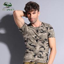 2015 Camuflagem T-shirt dos homens 100% Algodão T Shirt Casual Camo Acampamento Masculino Tees de Verão Respirável Roupas Esportivas