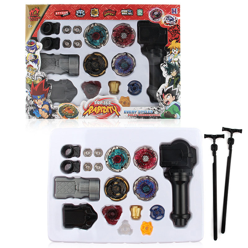 2017 New Metal Fusion 4D Launcher Constellation Beyblade Burst Set Pegasus Spinning Top Fighting Gyro Game Toy For Children Gift