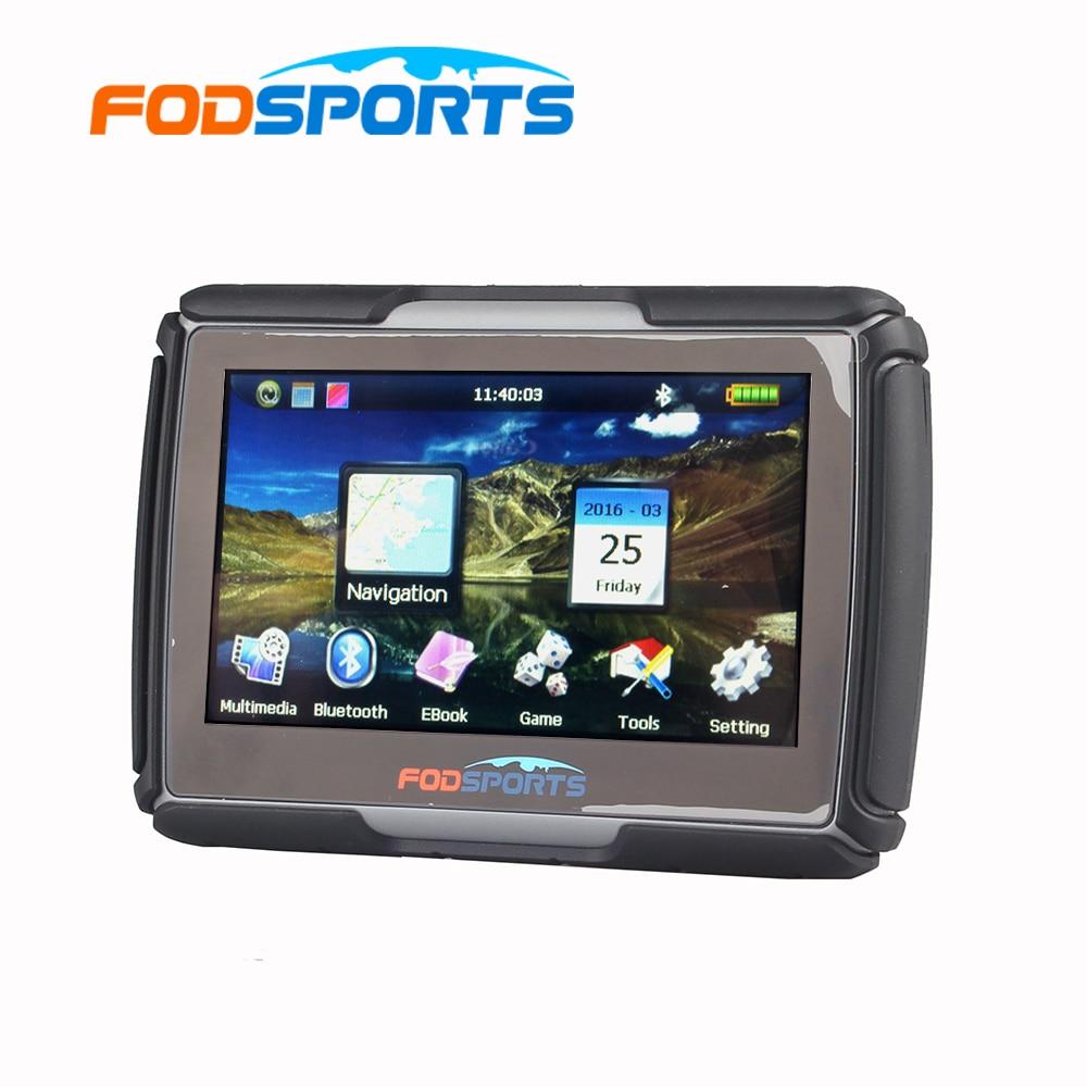 8GB 4.3 Inch Updated Version Moto Navigator Motorcycle Navigation Waterproof GPS Free Maps