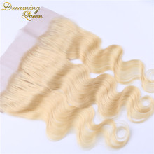 613 blonde lace frontal 13×4 Peruvian virgin hair body wave full lace frontal closure bleached knots swiss lace drop shipping