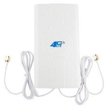 ホット 2 * sma オス/TS9/CRC9 コネクタと 2 メートルケーブル 700 〜 2600 mhz 88dBI 3 グラム 4 4g lte アンテナ携帯アンテナブースター mimo パネルアンテナ