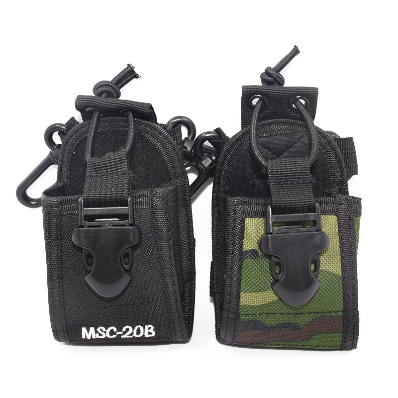 Abbree MSC-20B Nylon Multi-functional Case Holster Pouch for Baofeng TYT Wouxun Kenwood Motorola Icom Walkie Talkie