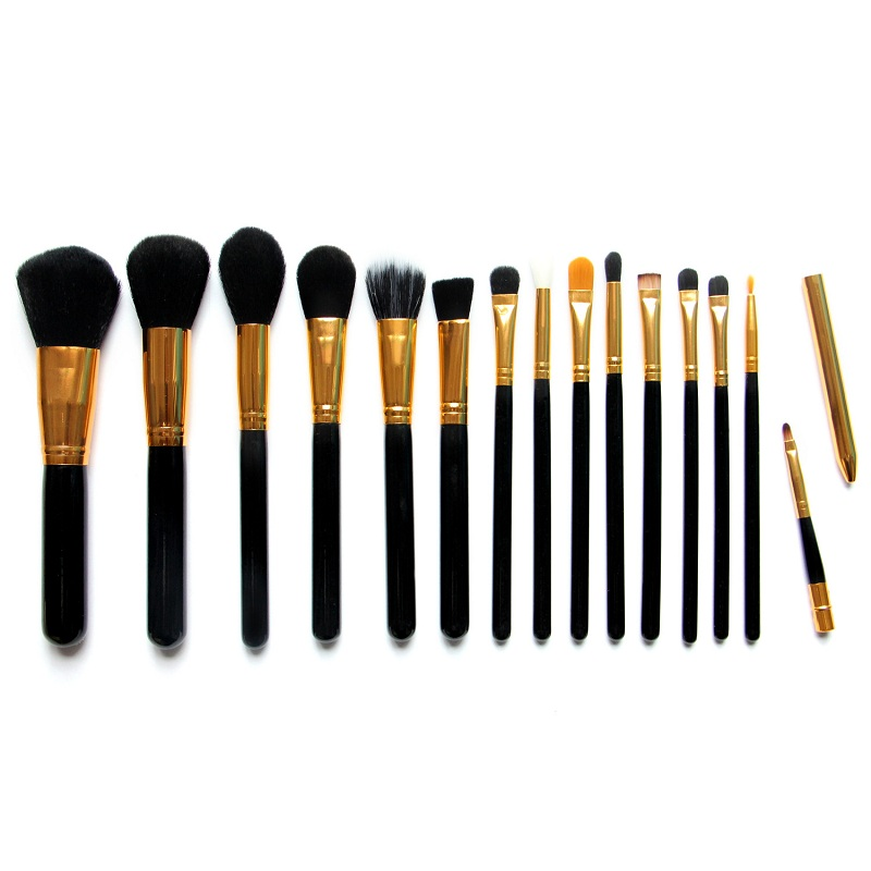 15pcs/set Pro Makeup Brushes Set Foundation Blending Powder Eyeshadow Contour Concealer Blush eyebrow brush black golden pro 15pcs tz makeup brushes set powder foundation blush eyeshadow eyebrow face brush pincel maquiagem cosmetics kits with bag