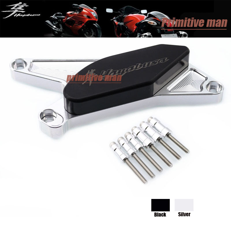 ФОТО For SUZUKI HAYABUSA GSX1300R GSX 1300R 1999-2014 Motorcycle Accessories Engine Protector Guard Cover Frame Slider Silver