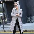 Q-IMAGE 2016 Мода Ватные Пальто Женщин Зимняя Куртка Женщин Хлопка Куртка Тонкий Парки Дамы Зимнее Пальто