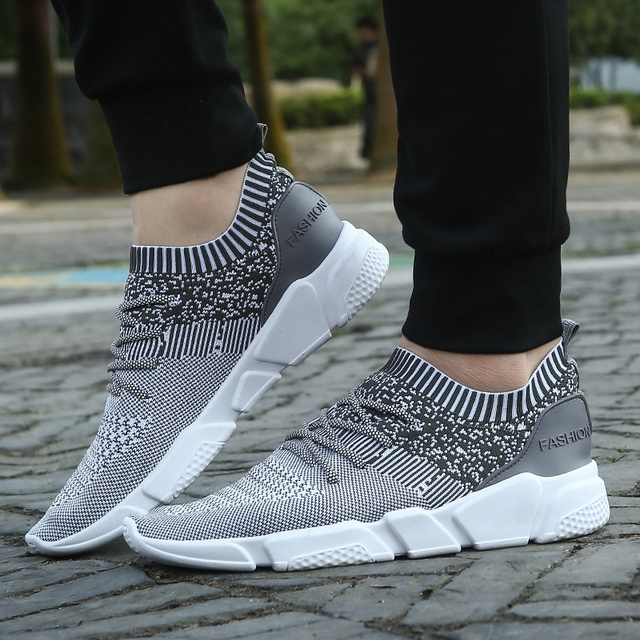 59ca8158c2 Aliexpress.com   Buy Hot 2019 Summer Men s Knitted Shoes Korean Men Soft  Rubber Soles Breathable Weave Shoes Man Daily Light Shoes Fashion Cool  Flats from ...