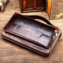 Luxury famous brand Leather Mens Wallet Zipper Long Male Purse Clutch Carteira With Coin Pocket Card Holder MS9009
