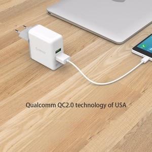 Image 3 - ORICO QC 2,0 Schnelle Ladegerät Dual Port Wand Ladegerät 36W Handy USB Ladegerät Adapter für iPhone Samsung Xiaomi huawei Htc